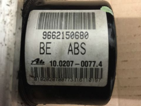 Peugeot 206  207  C3 ABS PUMP ATE 9675099880 10.0207-0157.4 ECU 10.0970-1168.3